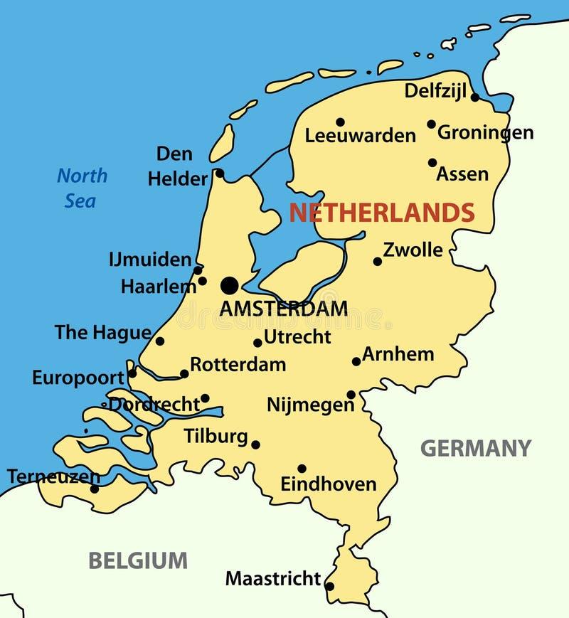 Het koninkrijk van Nederland - vector stock illustratie