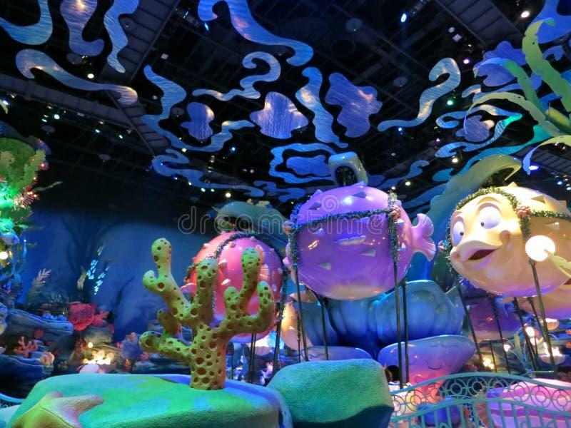 Het Koninkrijk van triton in het Overzees van Tokyo Disney stock foto