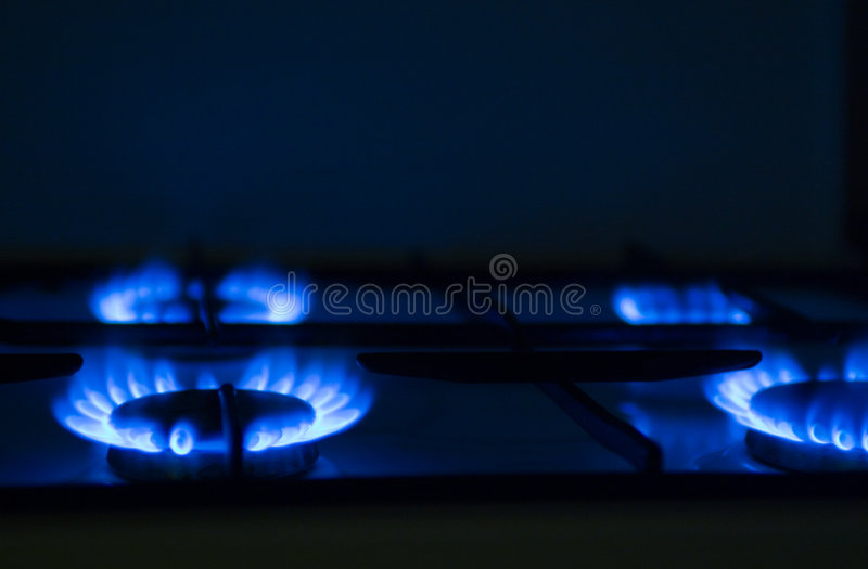 Het kooktoestel van het gas stock foto