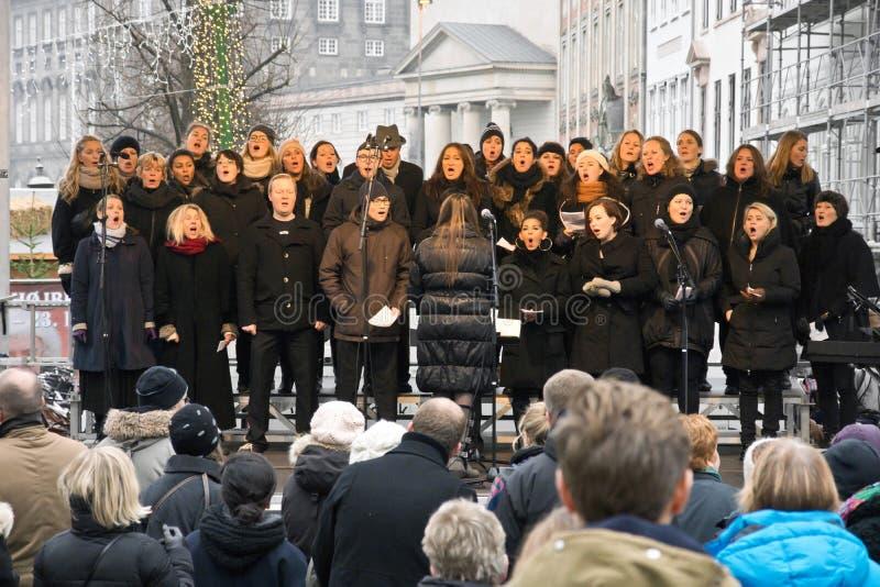 Het koor van Kerstmis stock foto