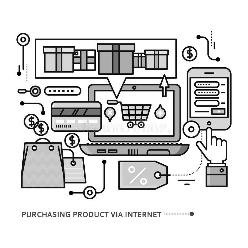Het kopen, Levering van Product via Internet vector illustratie