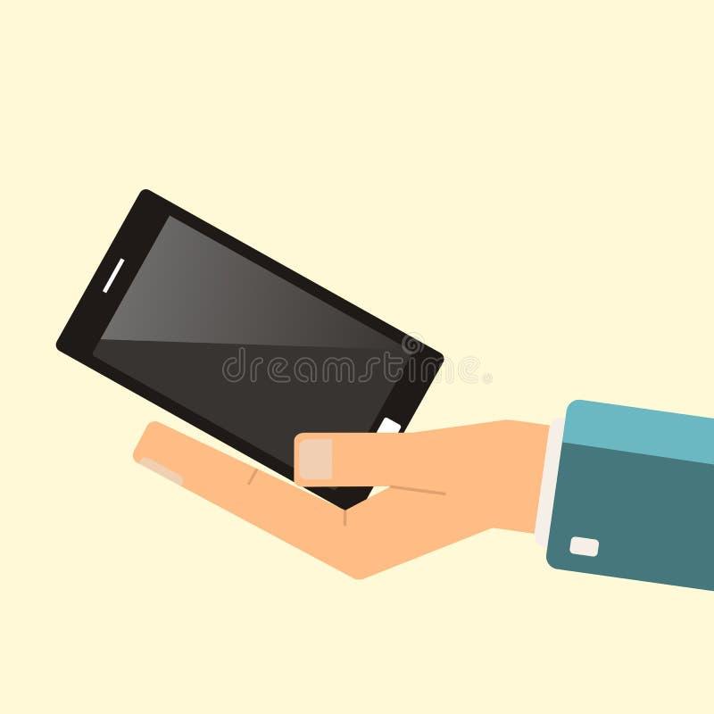 Het kopen Smartphone Smartphone van de handgreep Vector stock illustratie