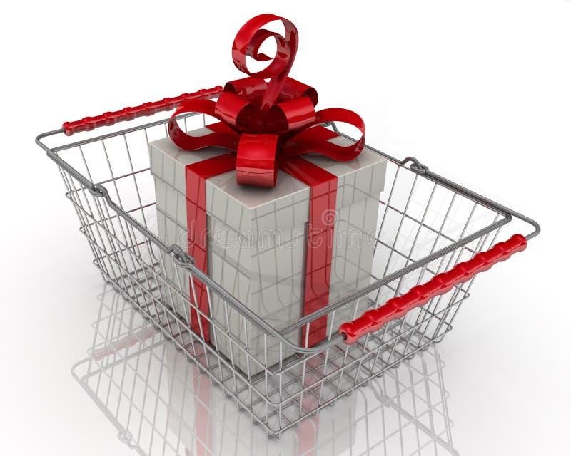 Het kopen van de gift Concept stock illustratie