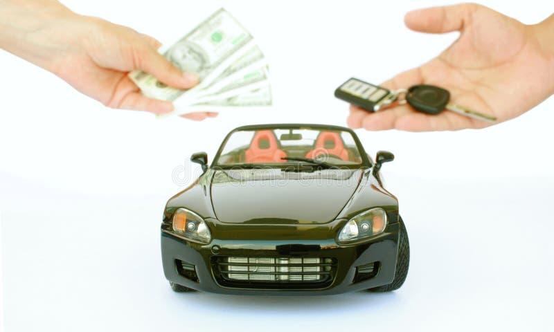 Het kopen van een auto stock afbeeldingen