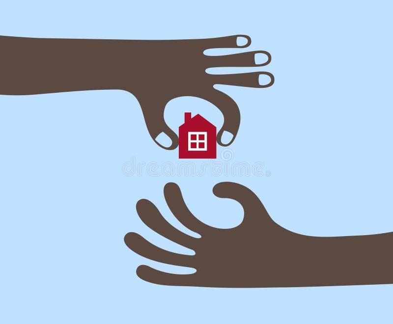 Het kopen van een huis vector illustratie