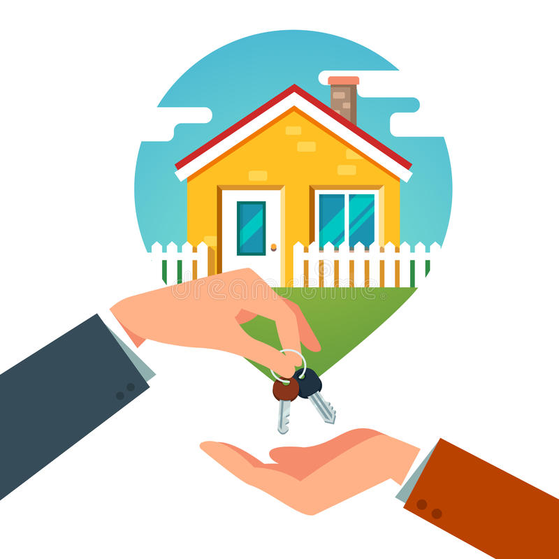 Het kopen van een Nieuw Huis stock illustratie