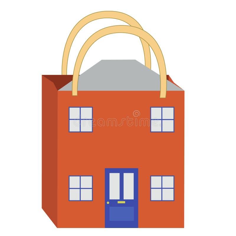 Het kopen van het huis. stock illustratie