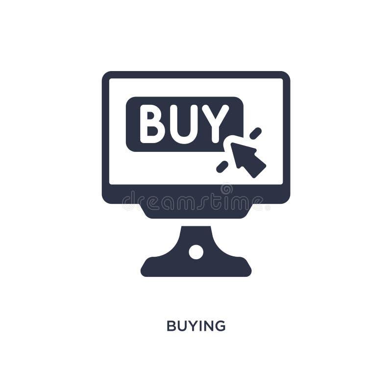 het kopen van pictogram op witte achtergrond Eenvoudige elementenillustratie van Marketing concept royalty-vrije illustratie