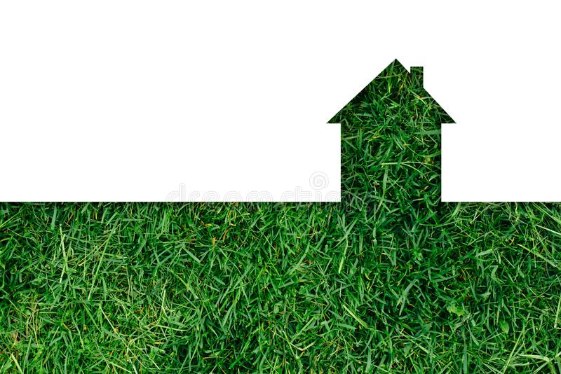 Het kopen van of het verkopen van een huis of een flat royalty-vrije stock afbeelding