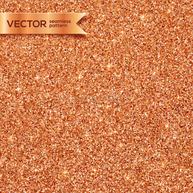 Het koper schittert vector naadloos patroon stock illustratie
