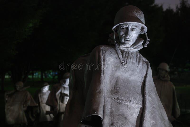 Het Koreaanse Gedenkteken van de Oorlog stock foto