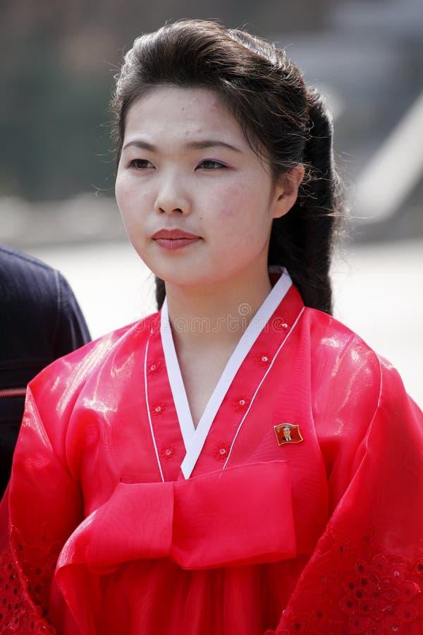 Het Koreaanse meisje van het noorden stock afbeeldingen