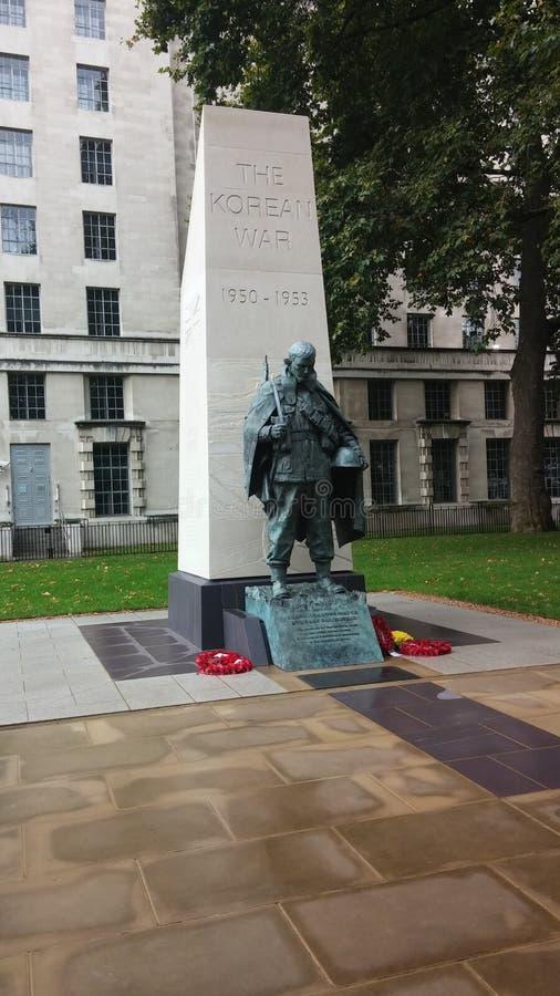 Het Koreaanse Oorlogsstandbeeld in Londen royalty-vrije stock foto