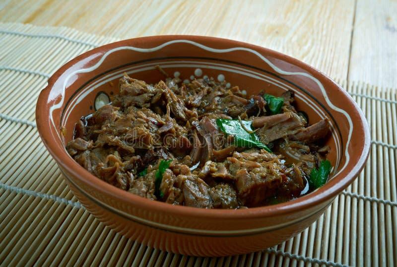 Het Koreaanse vlees van de soephond stock afbeelding