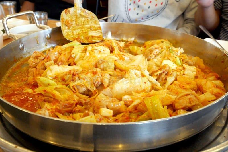 Het Koreaanse Voedsel van Dakgalbi royalty-vrije stock fotografie