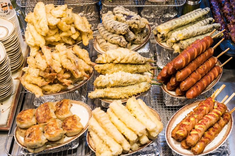 Het Koreaanse Voedsel van de Straat stock fotografie