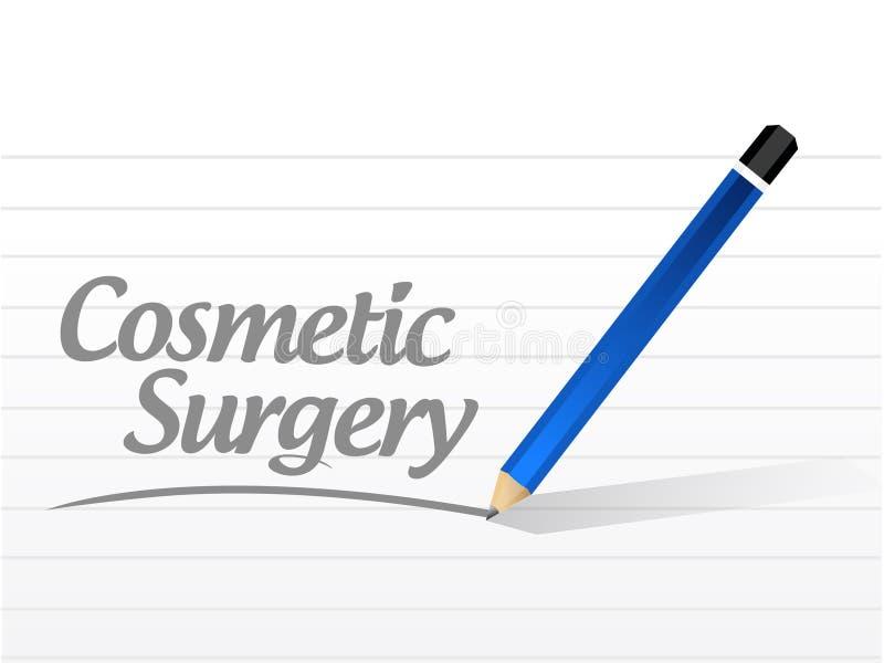 het kosmetische teken van het chirurgiebericht stock illustratie
