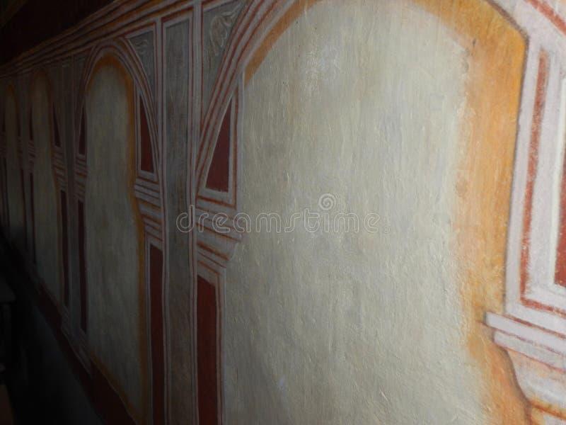 Het kostbare historische schilderen op een oude muur royalty-vrije stock fotografie