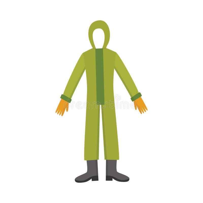 Het kostuum van het chemische veiligheids volledig-lichaam stock afbeelding