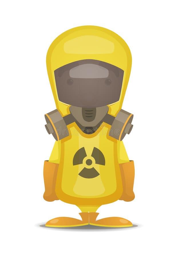 Het Kostuum van de Stralingsbescherming vector illustratie