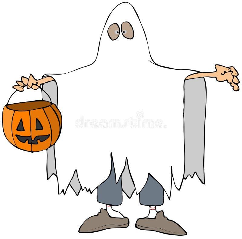 Het Kostuum van het spook royalty-vrije illustratie