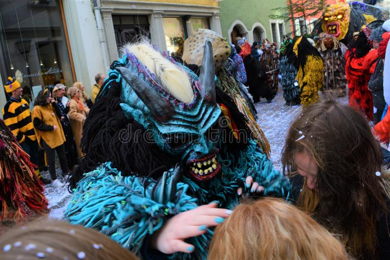 Het Kostuum van Konstanz Fasnacht stock afbeeldingen