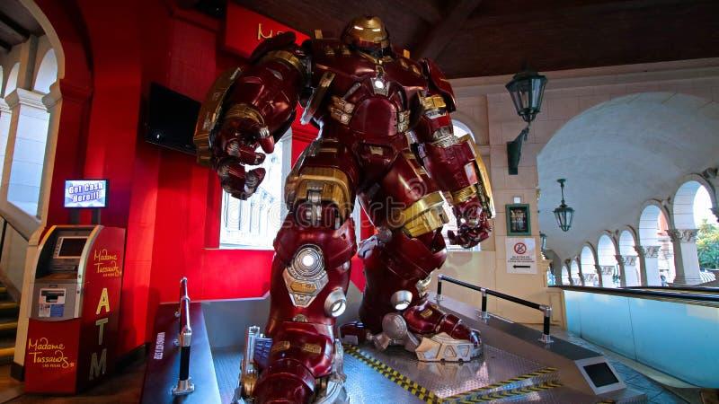 Het kostuum van rompbuster iron man bij Mevrouw Tussauds-museum royalty-vrije stock afbeeldingen