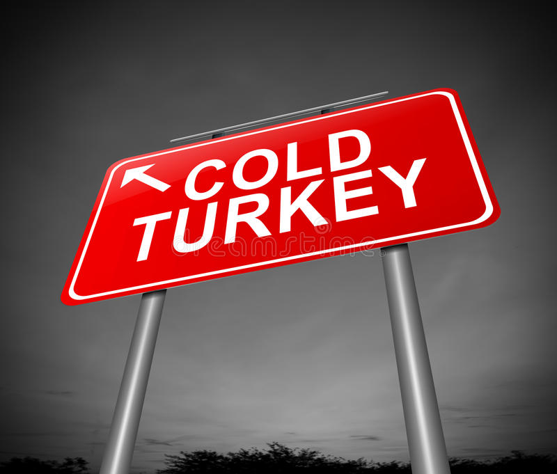Het koude concept van Turkije. royalty-vrije illustratie