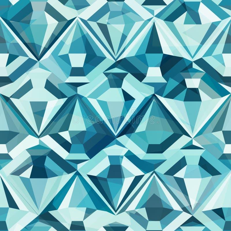 Het koude naadloze patroon van de kleurendiamant royalty-vrije illustratie