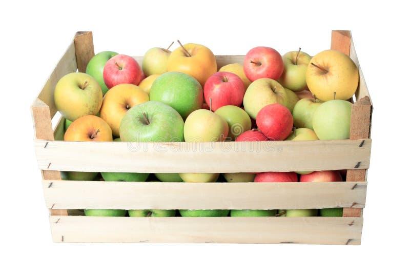 Het krat van de appel stock afbeeldingen