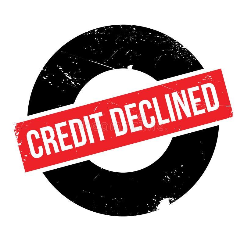 Het krediet daalde rubberzegel stock illustratie