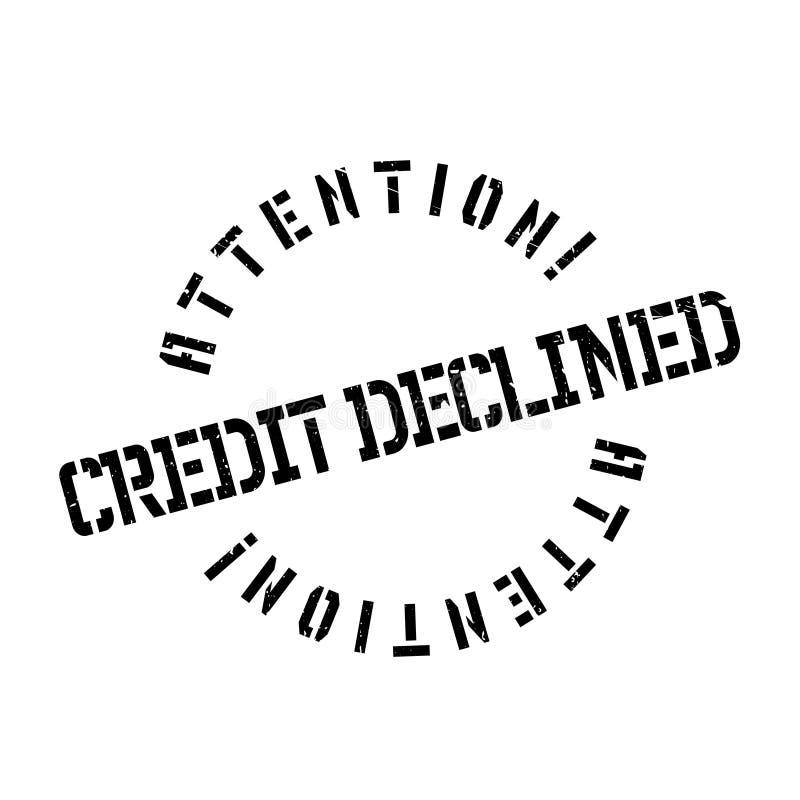 Het krediet daalde rubberzegel vector illustratie