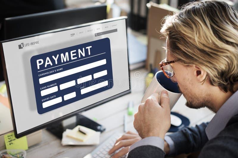 Het Krediet e-Betaling van de betalings Elektronisch Elektronische handel Concept stock foto