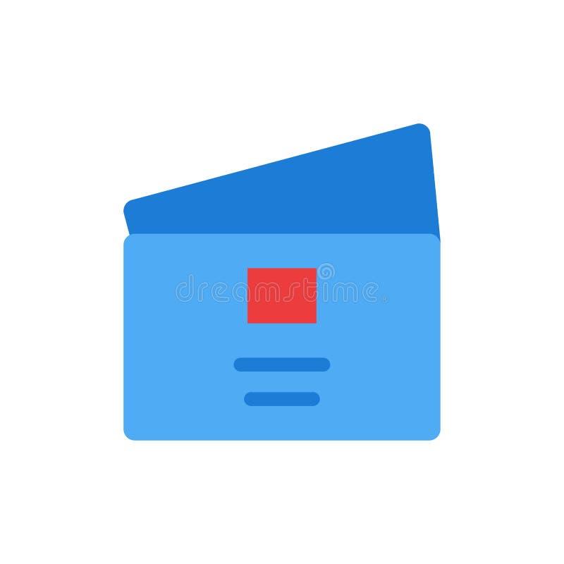 Het krediet, Globaal Debet, betaalt, het Winkelen Vlak Kleurenpictogram Het vectormalplaatje van de pictogrambanner vector illustratie