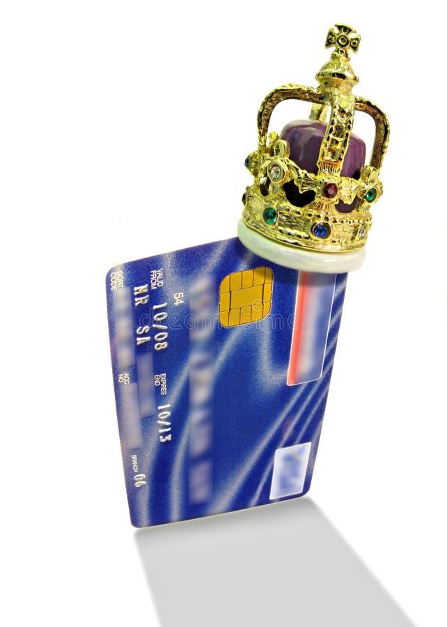 Het krediet is koning royalty-vrije stock foto's