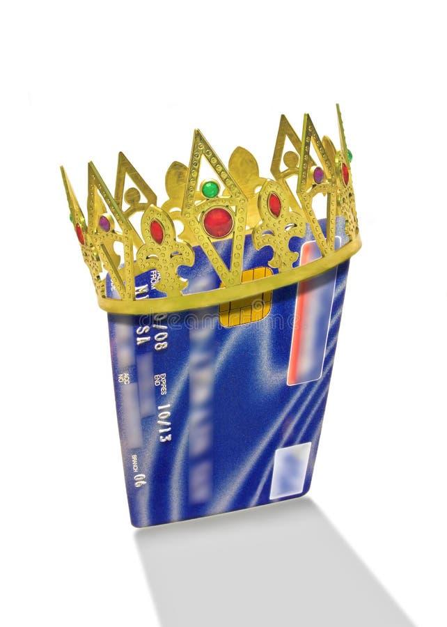Het krediet is koning stock afbeelding