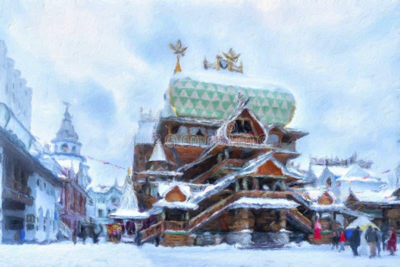 ` Het Kremlin in Izmailovo ` vector illustratie