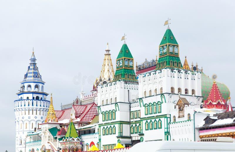 Het Kremlin in Izmailovo, Moskou, Rusland stock foto's