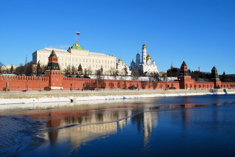 Het Kremlin in Moskou stock afbeeldingen