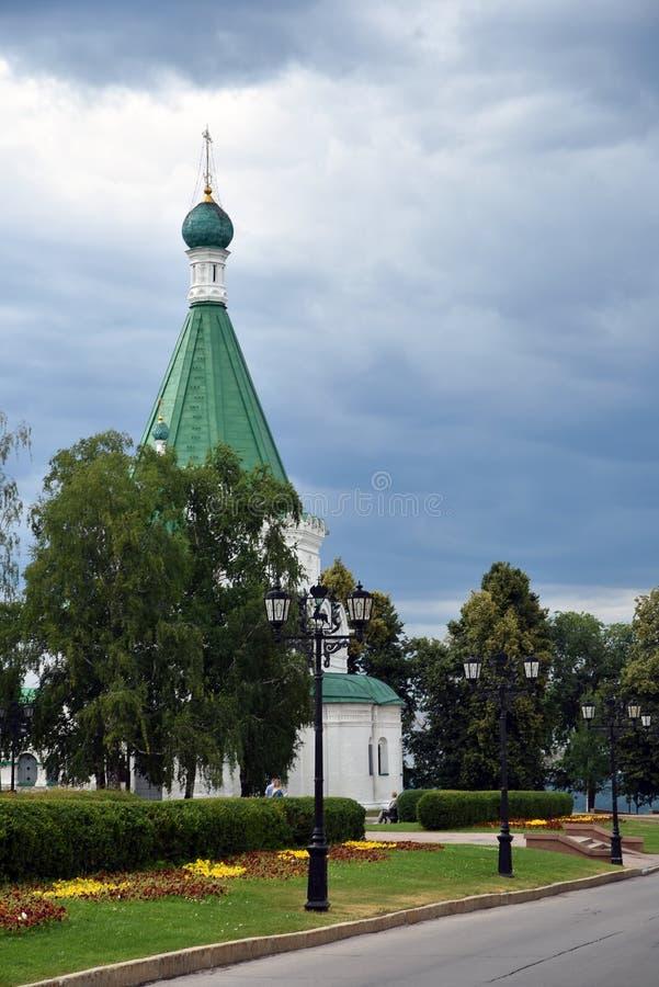 Het Kremlin in Nizhny Novgorod, Rusland Michael Archangel-kathedraal royalty-vrije stock fotografie