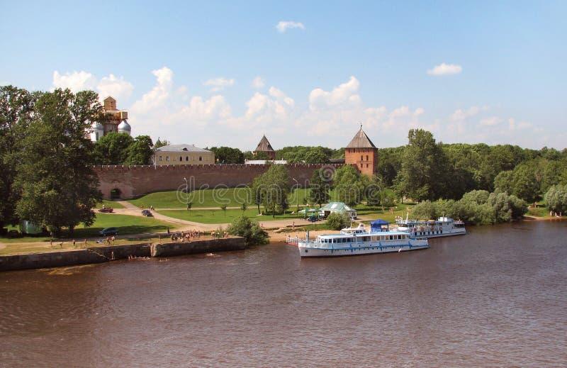 Het Kremlin in Novgorod royalty-vrije stock foto