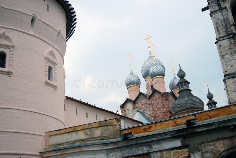 Het Kremlin in Rostov, Rusland royalty-vrije stock fotografie