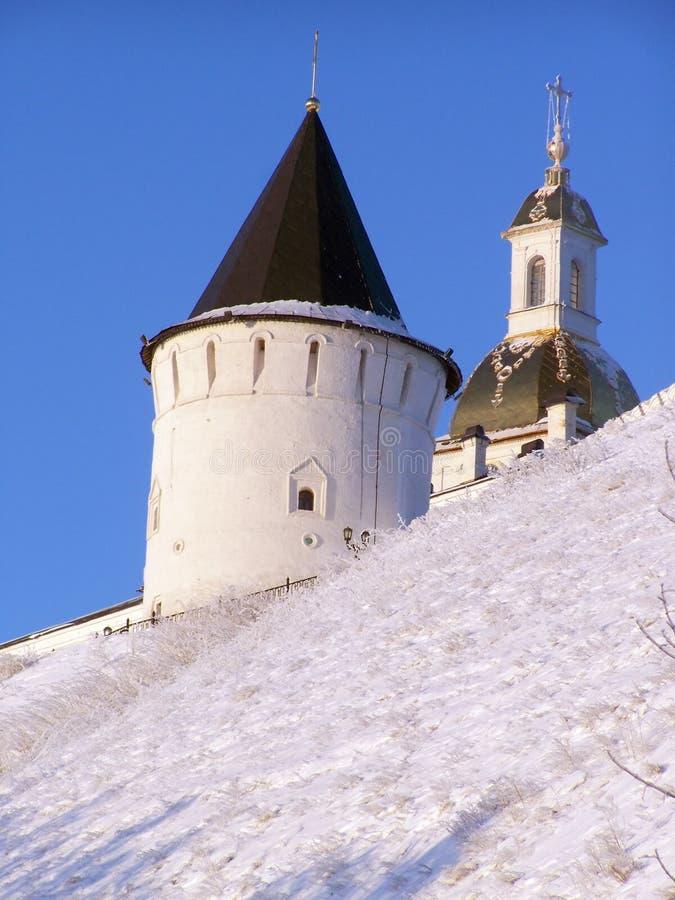 Het Kremlin van Tobolsk. Zuidentoren. stock foto's