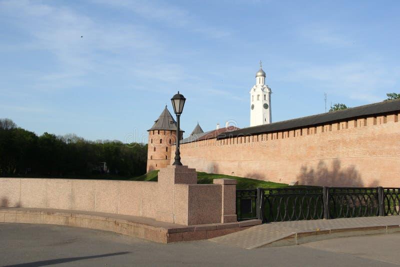 Het Kremlin in Velikiy Novgorod stock fotografie