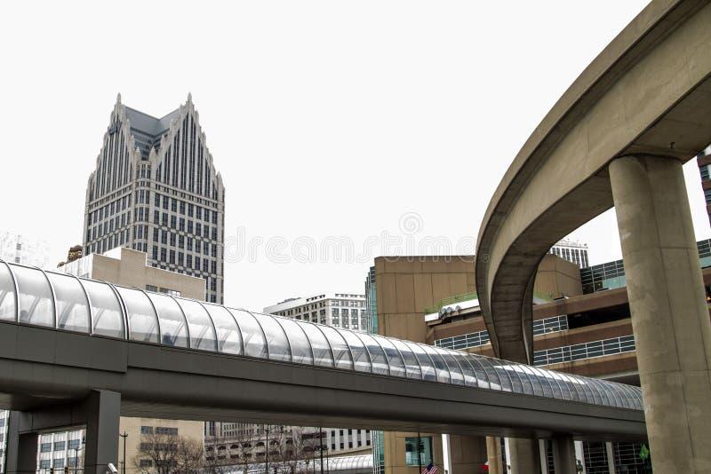 Het krijgen rond Detroit Van de binnenstad Michigan royalty-vrije stock foto