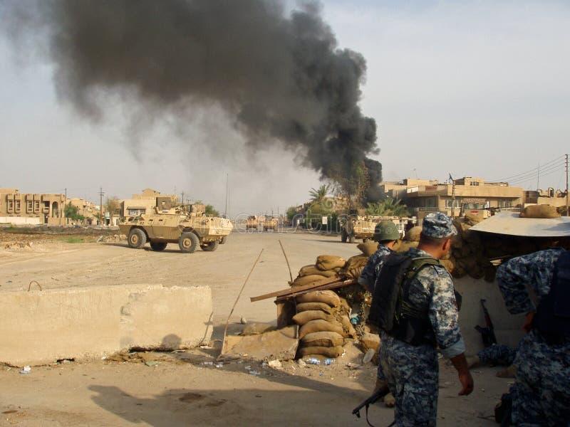 Het krijgen van Mortared Bagdad Irak 07 royalty-vrije stock foto's