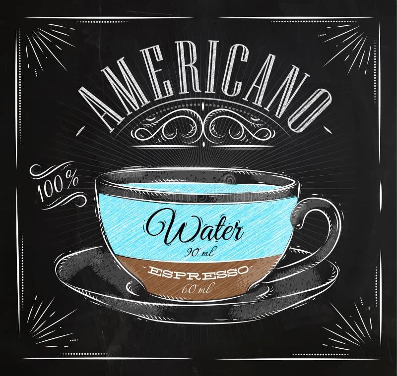 Het krijt van afficheamericano royalty-vrije illustratie
