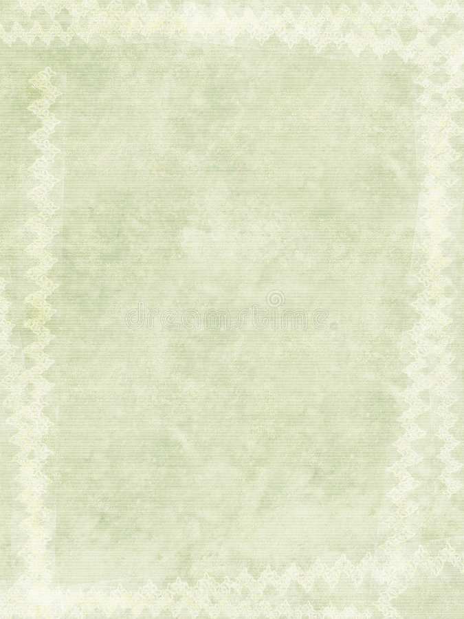 Het krijtaf:drukken van Grunge grens op geribbeld met de hand gemaakt document stock foto
