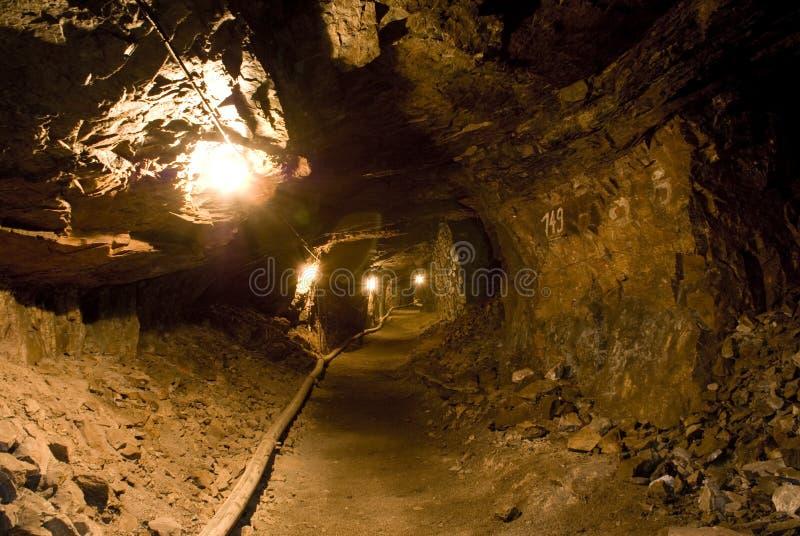 Het krijtmijn van Miltitz - tunnel stock afbeeldingen