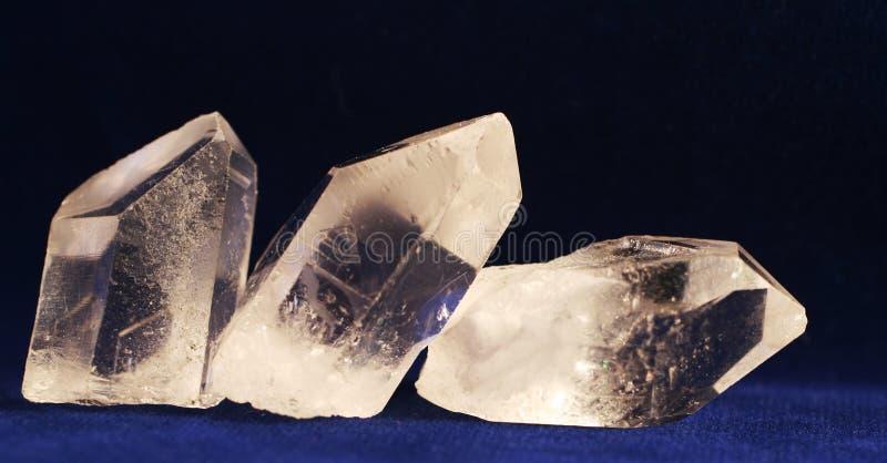 Het kristal van de berg stock afbeeldingen